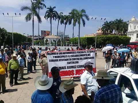 Exigen Campesinos Esclarecimiento del Atentado Contra Líder Cafetalero