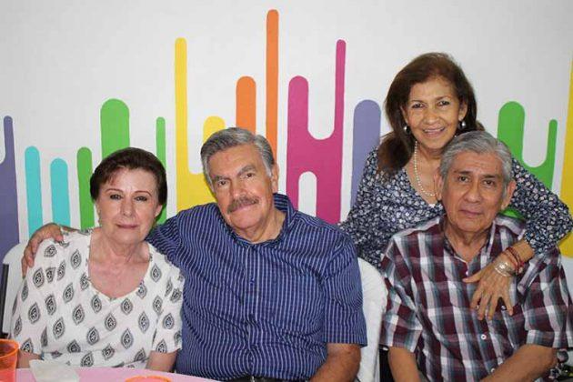 Laura Montes, Fernando Albarrán, Magda de León, Fernando de León.