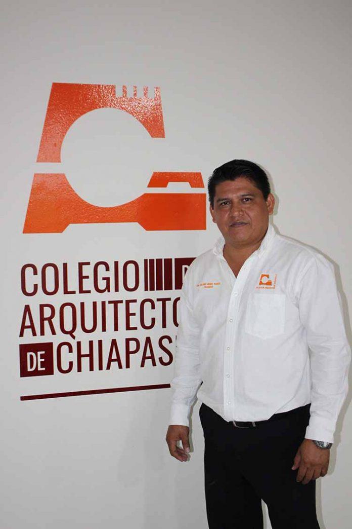 Orlando Méndez, presidente del Colegio de Arquitectos de Chiapas.