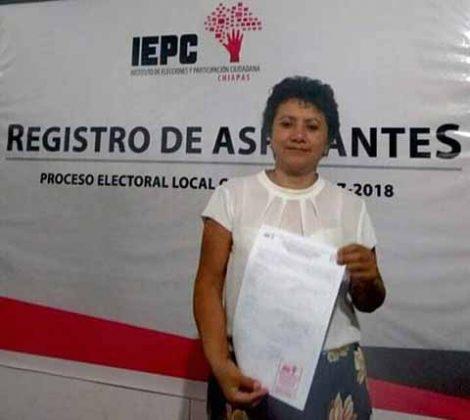 Guadalupe García Muñoz, aspirante a presidente municipal de Unión Juárez, bajo las siglas del PVEM