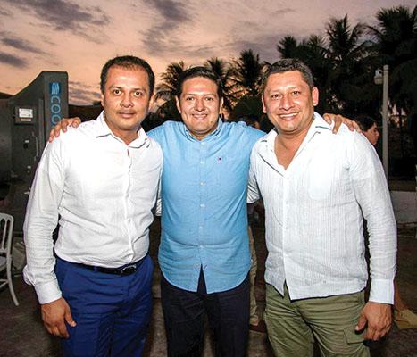 Samuel Chacon, Enrique Zamora y Dagoberto De la Cruz