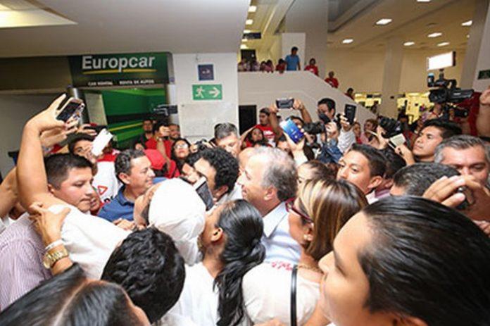 Arriba a Tapachula Meade Para Respaldar a Roberto Albores, Arrancan las Campañas a Gobernador