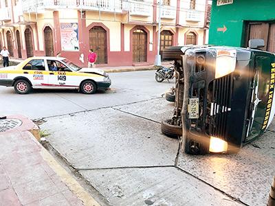 Colectiva Volcó en la 8ª Sur