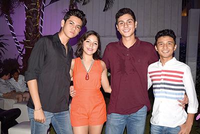 Carlos Wong, Daniela Coello, Vicente Marín, Santiago Flores.