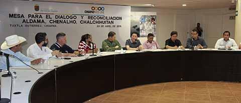 Aldama, Chenalhó y Chalchihuitán Resolverán Diferencias Históricas