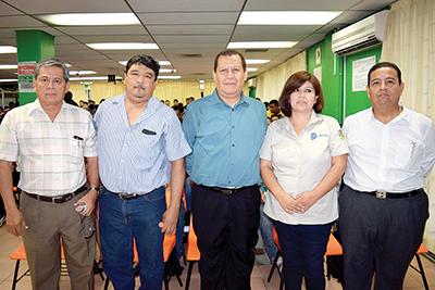 Miguel Morga, José Gutiérrez, Delfino Cajina, Juana Cruz, Bertín Gerónimo.
