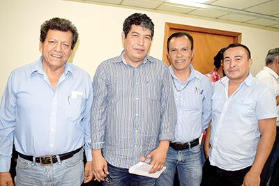 Isidro Hernández, Werclain Sánchez, Antonio García, Nicolas Alfaro.