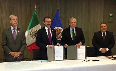SRE y OEA Firman Acuerdo de Observación en Jornada Electoral