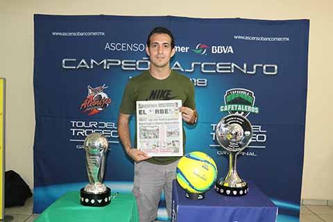 Busca Cafetaleros el Ascenso a 1ª. División: Diego de la Torre