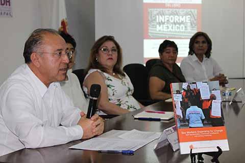 Presentan en CEDH Chiapas Informe México 2018 sobre trabajadoras sexuales