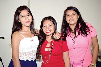 Mireya Vázuqez, Dulce Rodríguez, Franceli Reyna.