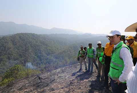El trabajo coordinado de los más de cinco mil Comités de Prevención y Participación Ciudadana que existen en Chiapas, ha sido pieza clave en la reducción de incendios forestales en la entidad, reconoció el gobernador Manuel Velasco Coello.