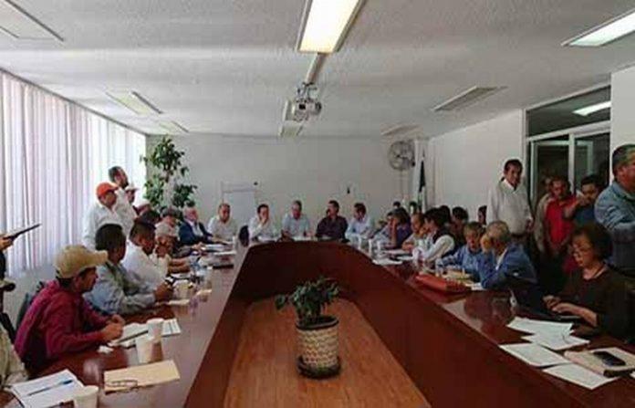 Representantes de organizaciones de los 12 Estados en donde se cultiva café, se reunieron con las autoridades federales en la Ciudad de México para exponer sus demandas.