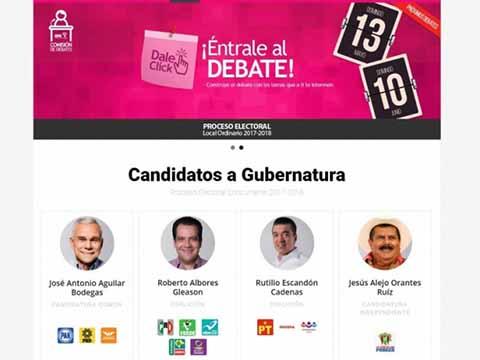 Hoy el Debate de los Aspirantes a la Gubernatura de Chiapas