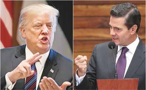 """""""México Pagará el Muro"""": Trump; """"Nunca"""", Responde Peña Nieto"""