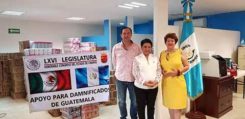 Diputada Lilian Garcés Reúne Víveres Para Damnificados del Volcán de Fuego