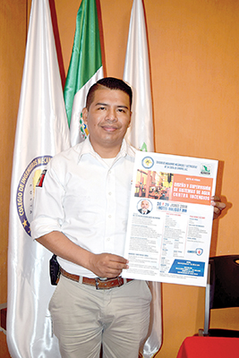 Carlos Iván Martínez González, verificador del Área de Identificación y Análisis de Riesgo de la Dirección de Protección Civil de Tapachula.