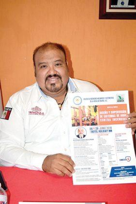 Leopoldo Moguel Santiago, coordinador de Protección Civil de Tapachula.