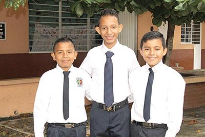 Gerónimo Pérez, Joseph Villanueva, Michelle Vasconcelos.