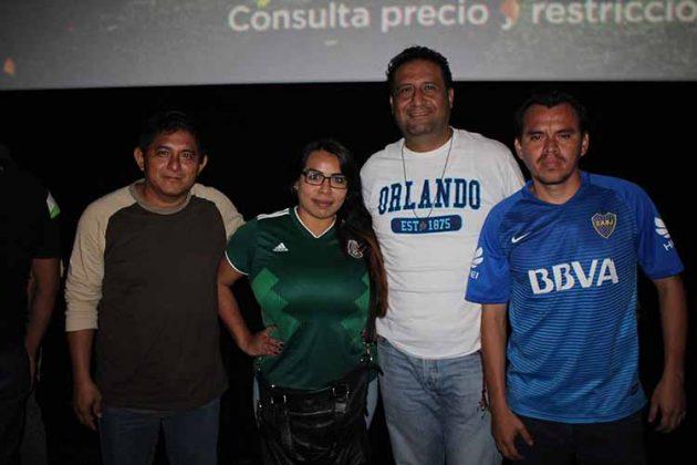 Sergio Moreno, Perla Cañedo, Adán González, Francisco Rosas.