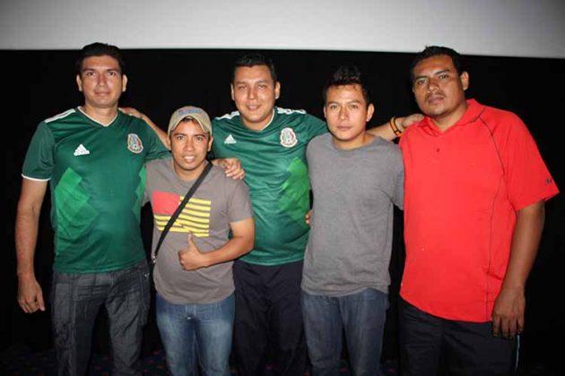 Marco Gutiérrez, Cristian Meneses, Dany Pérez, Andrés López, Carlos Duque.