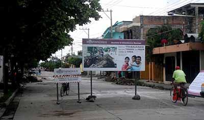 Rehabilitan Tubería del Drenaje en San José el Edén
