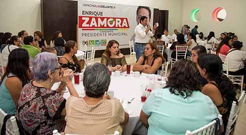 El candidato a la alcaldía de Tapachula, aseguró que en su gobierno se reforzará el empoderamiento de la economía de las mujeres, además de que gestionará recursos ante la federación para fomentar el apoyo a la mujer emprendedora.