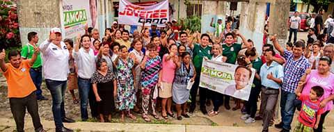 Cierra EZM Campaña Proselitista en Mercados Estación, Soconusco y San José el Edén