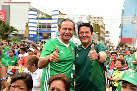 Miles de Tapachultecos Celebran con Enrique Zamora Morlet Triunfo del TRI