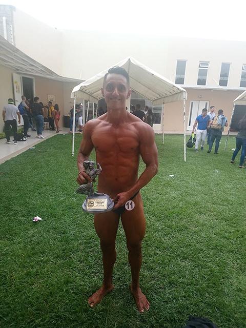 Saúl Barrios, 2do lugar en el 20 campeonato estatal selectivo varonil de Fisicoconstructivismo