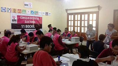 Inician Conteo, Sellado y Enfajillado de Boletas Electorales Para la Elección Local en Chiapas
