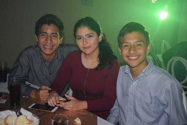Alan Ruiz, Maricarmen Nuño, Carlos Cinta.