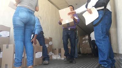 Llega Paquetería Electoral a Huixtla