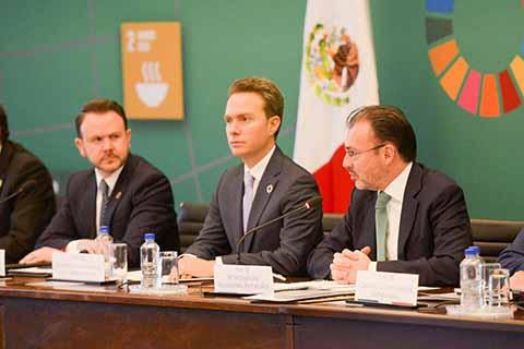 El gobernador Manuel Velasco refrendó su compromiso de trabajar de manera coordinada con la Organización de las Naciones Unidas, para hacer frente a los retos que se presentan en la entidad y en el país.