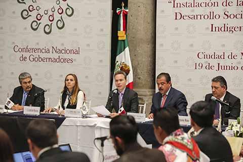 El Gobernador Manuel Velasco encabezó la instalación y presentación de la Agenda y Programa de Trabajo de la Comisión de Desarrollo Social y Pueblos Indígenas de la Conago.