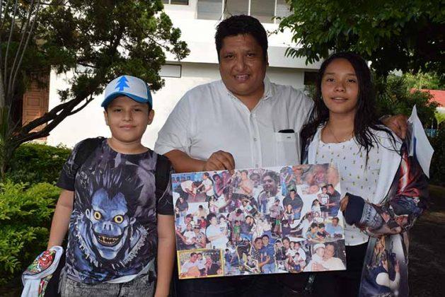 Leonardo, Jesús, Malena Fuentes.