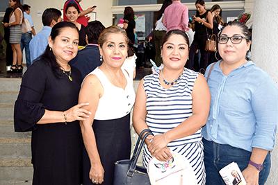 Araceli Cano, Griselda Sales, Itzel Martínez, Monterat Martínez.