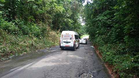 Carretera a la Zona Alta de Tapachula en mal Estado por Falta de Mantenimiento