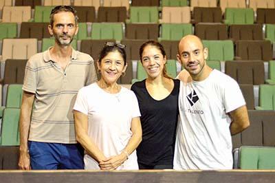 Miguel Garabenta, Edith García, Mariana López, Arturo García.