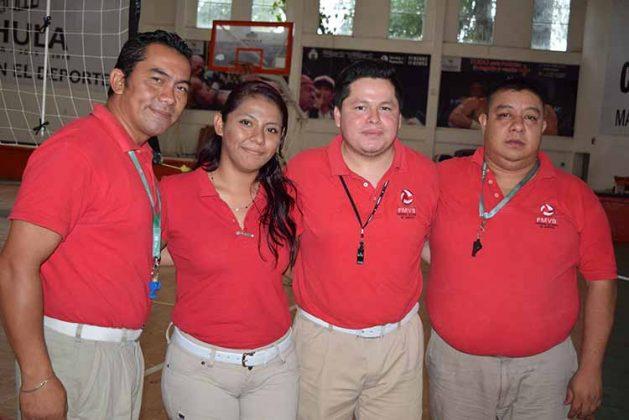 Eliuth Aguilar, Arely Bermúdez, Ángel Morga, Hugo Fong.