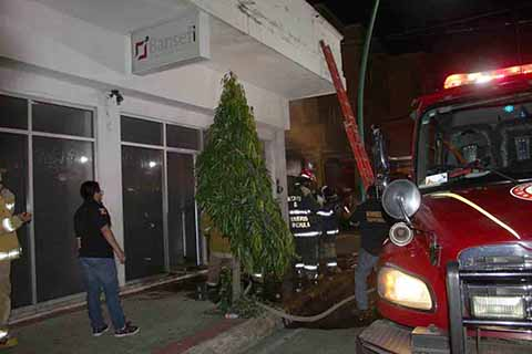 Se Incendia Oficina de BANSEFI