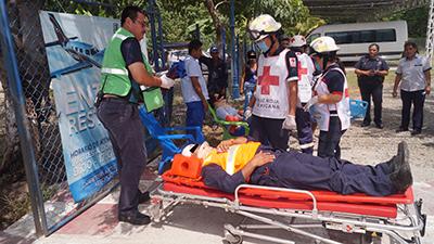 Dos Personas Lesionadas en Fuerte Choque