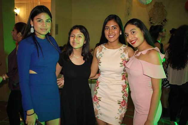 Daniela, Romina Villalobos, Monserrat García, Nina Lagunes.