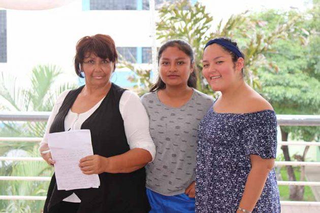 Karina Morga, Patricia Zenteno, Sofía Juan.