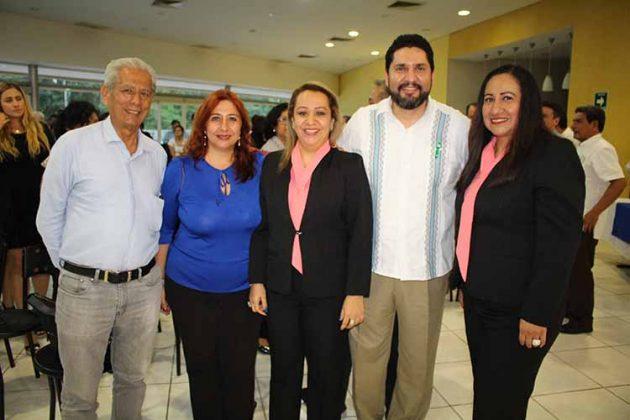 Benjamín Aguilar, Heidi Reyero, Marycarmen Elorza, Carlos López, Sandra Hernández.
