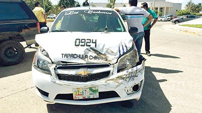 Taxista Provocó Choque a Particular