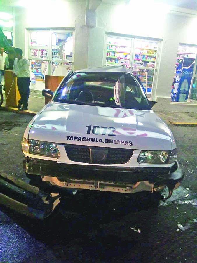 Taxista Lesionado en Choque