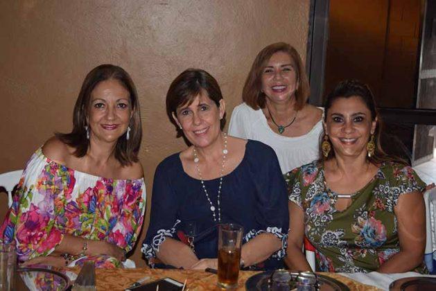 Mónica de Von Knop, Irene Fierros, Martha Ruth Salazar, Barssy Espino.