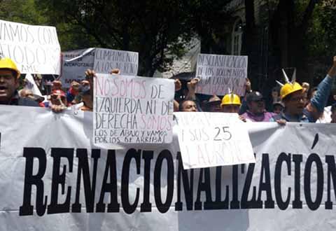 Disidentes del SME Exigen a AMLO no Proteger a Martín Esparza