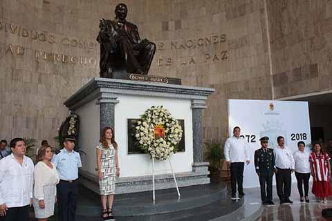 Encabeza titular del Trabajo Homenaje del CXLVI Aniversario Luctuoso de Don Benito Juárez